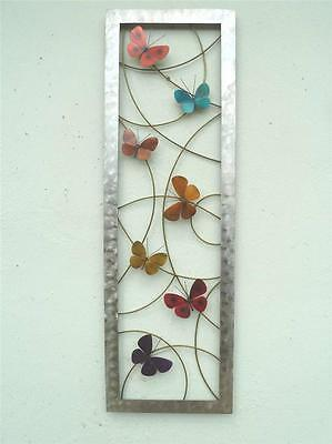 3DButterfly Metal Wall Art Hand Crafted Quirky Sculpture Modern Stainless Steel