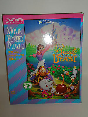 Vintage GOLDEN The Walt Disney Company BEAUTY AND THE BEAST Movie Puzzle 100%