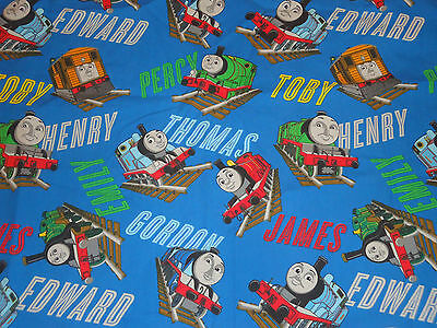 THOMAS THE TANK ENGINE Train Toddler Crib Flat BED BEDDING Fabric Material