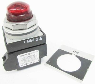 GE CR104PLG32RA1 New 120V On Red Lens Transformer Pilot Light NIB