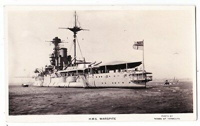Early Post Card, Ships, H M S Warspite, RP