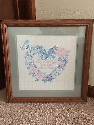 Home Interiors / Homco Heart Wreath Flower Picture