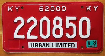 Kentucky 2009 URBAN LIMITED License Plate HIGH QUALITY # 220850