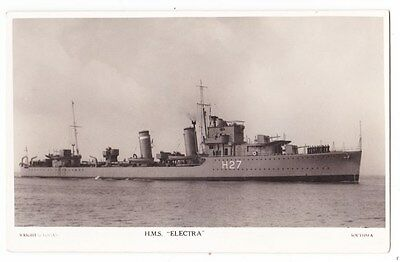 Early Post Card, Ships, H M S  Electra,  RP