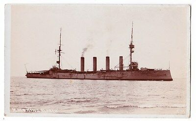 Early Post Card, Ships, H M S  King Alfred,  RP