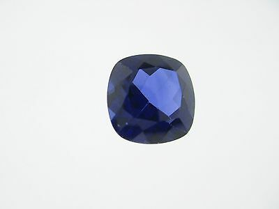 3.72ct Loose Cushion Cut Lab Created Blue Sapphire Gemstone 10 x 10mm