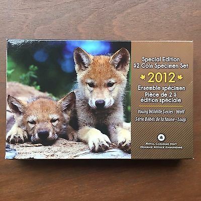 2012 Canada Special Edition $2 Coin Specimen Set Young Wildlife Series Wolf