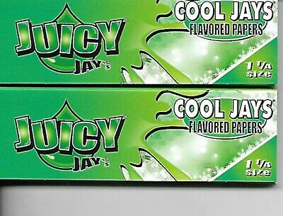 Juicy Jay's Cool Jay's Flavored Hemp Cigarette Rolling Papers 1 1/4 Size
