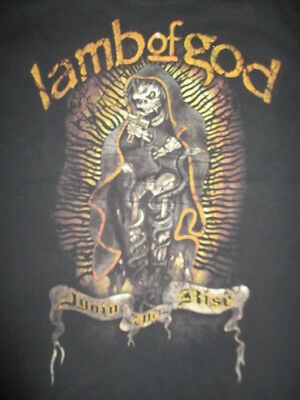 """American Groove Metal Band LAMB OF GOD """"Again the Rise"""" (MED) T-Shirt"""