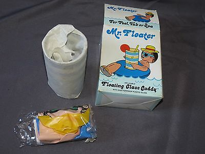 sh5 Vintage Mr Floater Inflatable Floating Glass Caddy and Tumbler Original Box