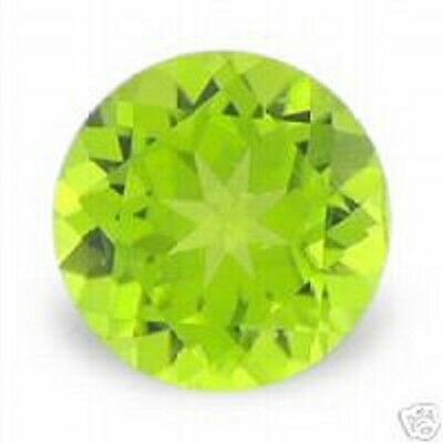 Amazing Green PERIDOT Round Brilliant Cut 4 mm