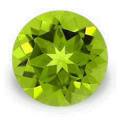 Stunning Green PERIDOT Round Cut 4 mm