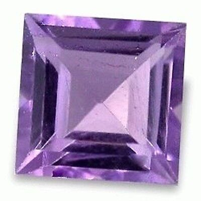 Charming Bright Purple AMETHYST Square Cut 7 mm