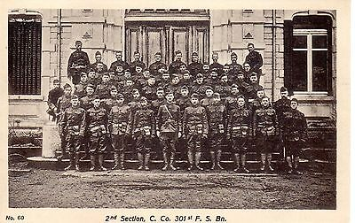 g742. Orig 1918-19 Post WWI France Photogravure 2nd sec Co C 301st FS Bn US Army