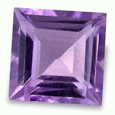 Astonishing Fine Purple AMETHYST Square Cut 5 mm