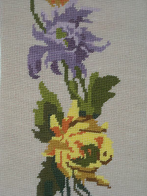 09 Vintage Wiener handarbeit Mill Floral completed needlepoint