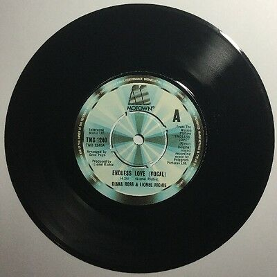 """Diana Ross & Lionel Ritchie - Endless Love - 7"""" Inch Single 45 RPM Record"""