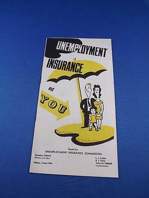 Unemployment Insurance And You Information Brochure Book 1945 Questions Answers