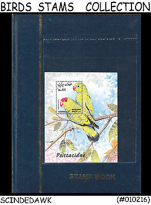 Colorful Collection Of Bird Stamps Different Countries In Small Stock Book