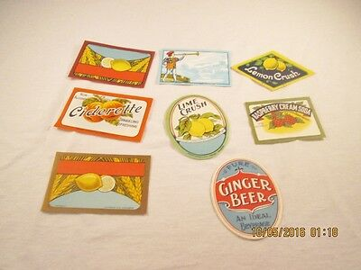 Vintage Unused Soda and Other Drink Labels #29