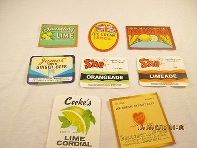 Vintage Unused Soda and Other Drink Labels #25