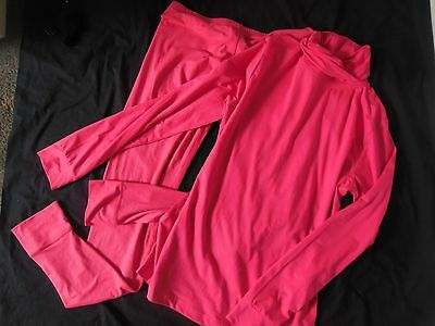 Crane Snow X Ladies Sz Medium Thermal Underwear Roll Neck Top/pants Two Pieces