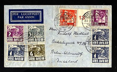 14839-NETHERLAND INDIES-AIRMAIL COVER BATAVIA to BERLIN (germany).1937.WWII.