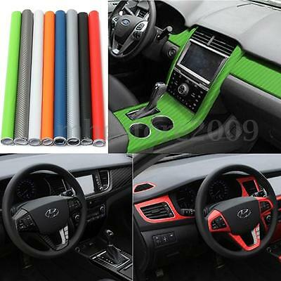 50x127cm 3D Carbon Fiber Vinyl Car Auto Wrap Sheet Roll Film Sticker Decal Decor