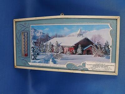 Advertising Sign Plaque Thermometer Mcewens Laundromat & Store Napanee Ontario