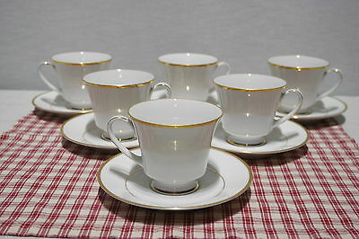 LOT of 6 Noritake Contemporary HERITAGE 2982 Footed cup and saucer sets, MINT!