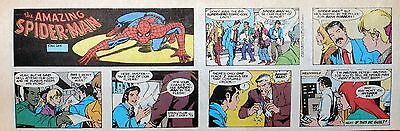 Amazing Spider-Man by Stan Lee & Flor Dery - lot of 7 Sunday comics from 1987/90