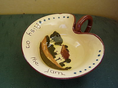 Vintage Patterned Torquay Ware Open Jam Dish - Aisy On The Jam - - Devon Ware