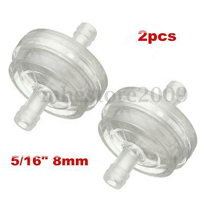 2x 5 16 8mm Universal Motorcycle Inline Petrol Fuel 2x universal 8mm clear 5 16\