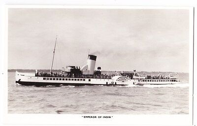 Early Post Card, Ships,  P S  Emperor Of India, RP