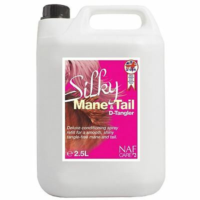 NAF Silky Mane And Tail D Tangler Refill 2.5L Equestrian Medication Treatment
