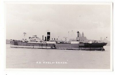 Early Post Card, Ships,  S S  Anglo Saxon, RP