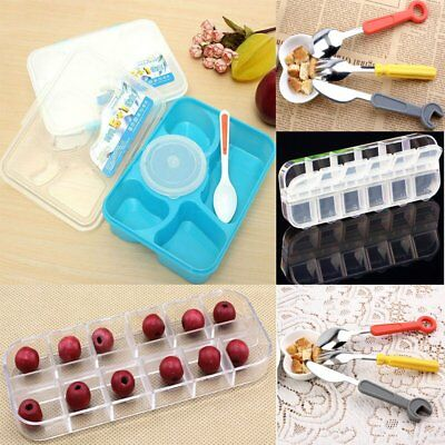 Microwave Bento Lunch Box + Spoon Utensils Picnic Food Fork Container Storage XC