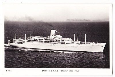 Early Post Card, Ships,  R M S Orsova, Orient Line,  RP