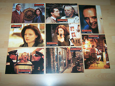 SILENCE OF THE LAMBS - set of 8 lobby cards ´91 - ANTHONY HOPKINS Jodie Foster