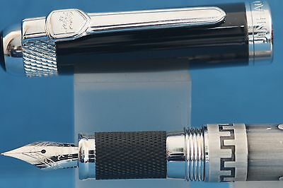 Jinhao No. 189 Series Fine Fountain Pen, Brushed Silver with Chrome Trim