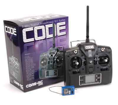 Core RC CR151 Code 2.4ghz FHSS 2 Stick 3 Channel Transmitter and Receiver combo