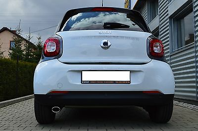 Smart Fortwo Forfour Typ 453 Auspuffblende Endrohr Sportauspuff 0.9 1.0 ab 2014