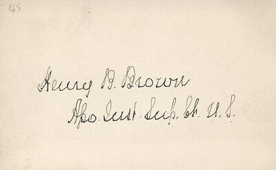 Henry B. Brown - Signature(S)