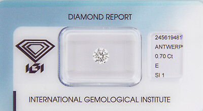 Diamant 0,70ct E SI 1