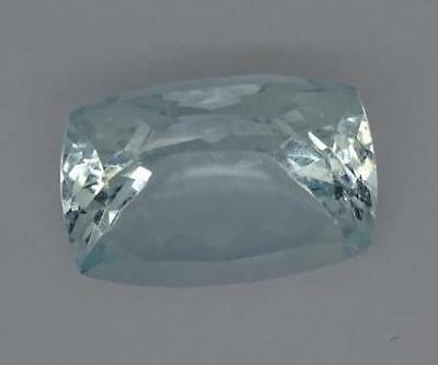 ***Beautiful 6.8ct Aquamarine Light Blue Faceted Fancy Emerald Cut Gemstone***