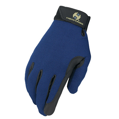 Heritage Performance Riding Gloves - Navy - Various Sizes