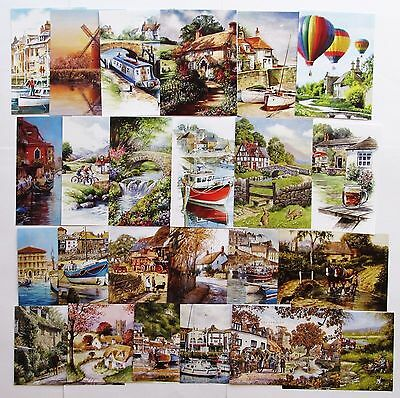 Hunkydory Little Book Landscapes,Scenery,Cottage,Card Toppers x 24 Sheets