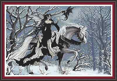 "'DRAGON TAMER' Cross Stitch Chart/Pattern (19""x13"") Fantasy/Detailed Design NEW!"