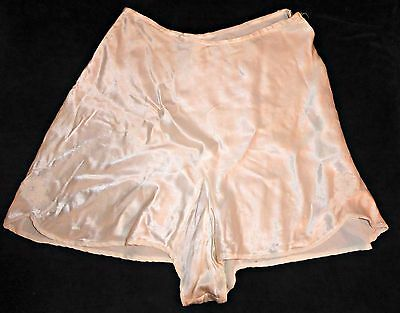Vintage 40S Satin French Knickers Tap Pants Uk 8 Wwii Landgirl