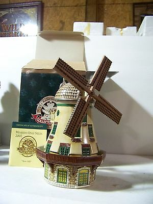 Budweiser CB 22 202 Bevo Mill Stein In Box with COA never Displayed